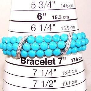 Sleeping Beauty Turquoise Bold Silver Bracelet